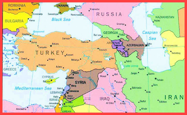 Turkey Map - TURKISH CANADIAN CHAMBER OF COMMERCE